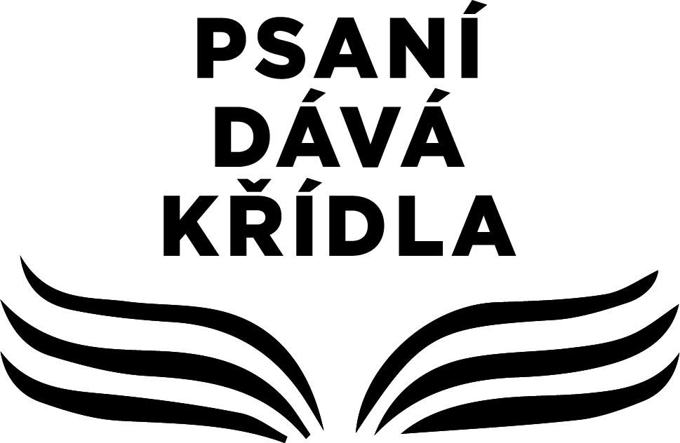 Psaní dává křídlo logo
